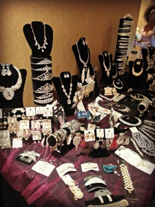 Another booth. Beautiful Bridal jewelry for your special day!